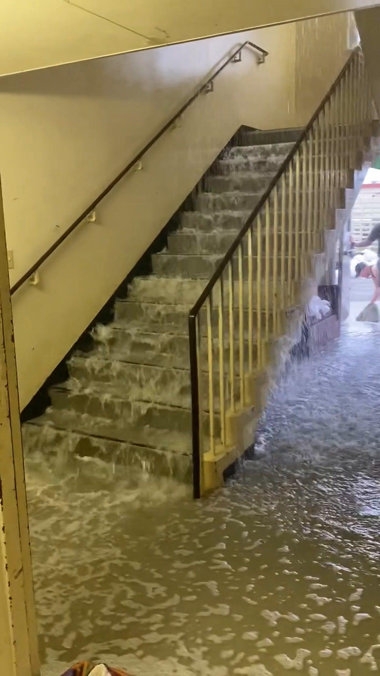 Okinawa Japan barracks flooding