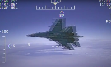 Insane Video Shows Russian Military Jet Flying Within 5 Feet Of US Navy Aircraft