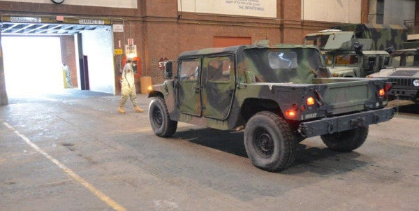 Stolen Humvee Crashes Out Of  National Guard Armory. Driver Said He Wanted To Enlist