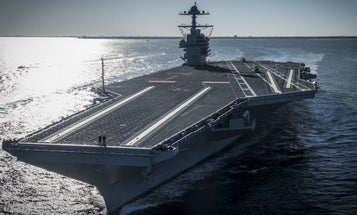 The Navy's Urinal-Free Brand New Supercarrier Is A Big Fat Mess