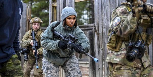 Air Force Combat Training Often Looks Like Paintballing
