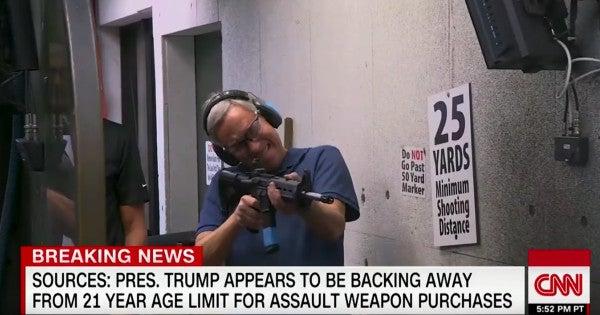 Watch This Unintentionally Hilarious Clip Of A CNN Reporter Firing An AR-15