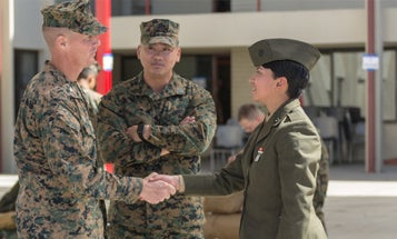 The Marine Corps Says It's Not Lowering Standards For Female Marines. This Photo Says Otherwise.