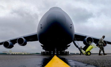 A Rare Mishap Sent The Air Force's Largest Plane Skidding Down A Runway
