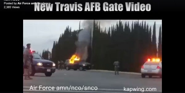 FBI: No Evidence So Far That Burning Wreck At Travis Air Force Base Was A Terrorist Attack