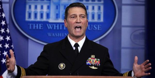 Trump Is Replacing VA Secretary Shulkin With His White House Doctor