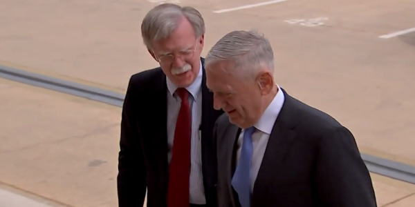 Mattis Welcomed John Bolton To The Pentagon In The Best Way Possible