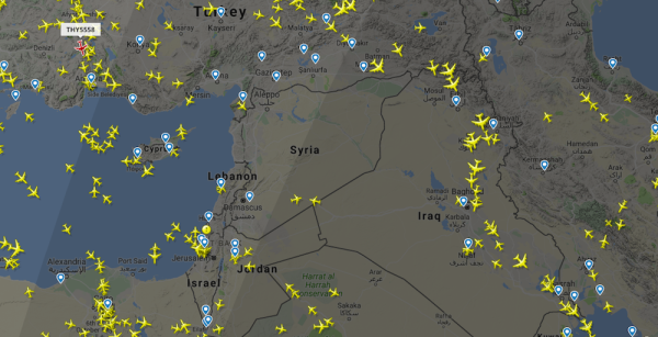 Airplanes Are Steering Clear Of Syria Amid Threats Of A US Strike