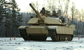 Watch An M1 Abrams Battle Tank Execute A Near-Perfect Drift