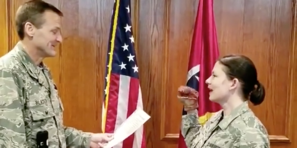Everybody Involved In That Dino Puppet Reenlistment Video Just Got Fired