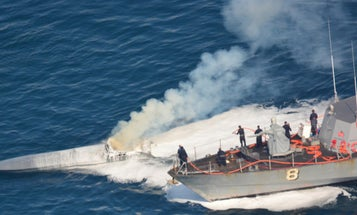 The Navy Seized A Half-Ton Of Drugs From A Burning Speedboat