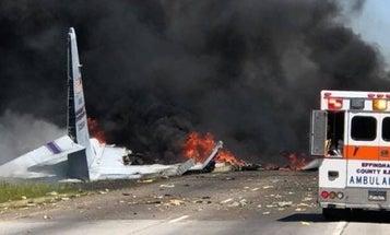 9 Airmen Killed When Air Force WC-130 Crashes in Savannah, Georgia