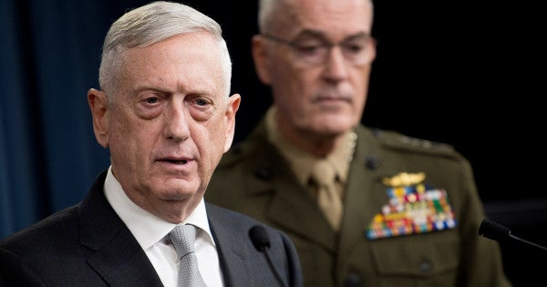 Mattis To Lawmakers: 'National Defense Is Not A Partisan Issue'