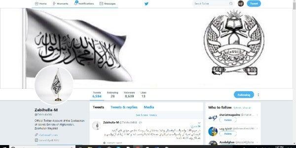 The Pentagon Run-Down: Twitter Gives Taliban Free Rein