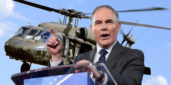 EPA Chief Scott Pruitt Is Taking Black Hawk Helos On Battlefield Circs Now