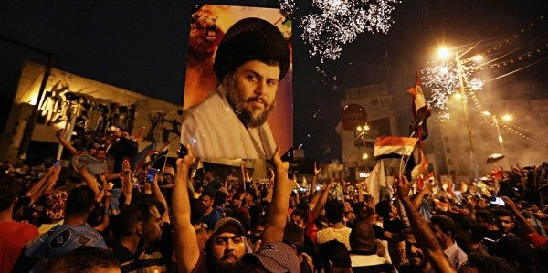 While A US Foe Looks Likely To Lead Iraq, The Pentagon Is Celebrating Democracy