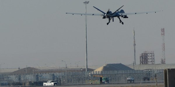 Video Shows US Drones Blasting Attacking Taliban Fighters