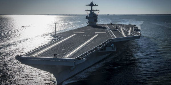 The Navy's Brand New Supercarrier Has (Yet Another) Major Problem