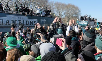 Eagles Fans Get The Party Of A Lifetime: Military Bands And Zero Football Players