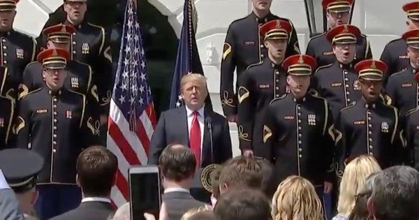 Watch President Trump Sing 'God Bless America' Like The Incredible Patriot That He Is