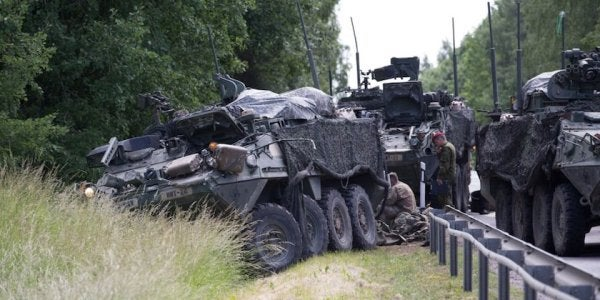 4 Army Strykers Collided During A Road March As Part Of An Exercise In Countering Russia