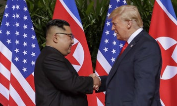 Trump, Kim Meet For The First Time In Historic North Korea Summit