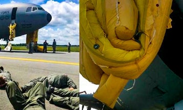 A KC-10 Tanker's Escape Slides Failed After An Aborted Take-Off In An Alarming Malfunction