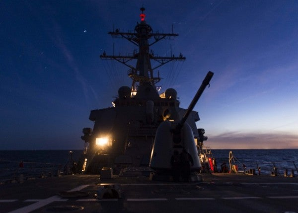 Navy destroyer sets new record for consecutive days at sea