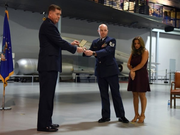 Airman who helped more than 30 people survive Las Vegas shooting finally recognized for his heroism
