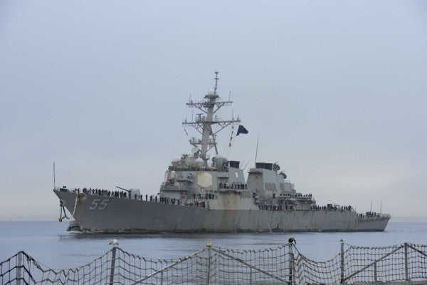 After a record 215 days at sea, USS Stout finally returns home to Norfolk