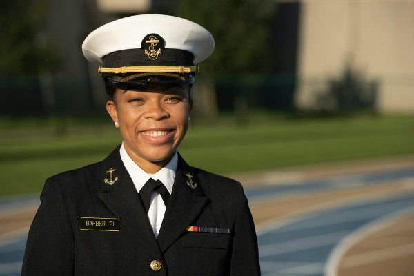 Midshipman makes history as first Black female brigade commander at the Naval Academy