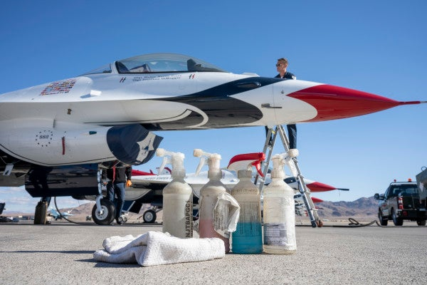 Here's how much Windex it takes to make the Air Force Thunderbirds look so shiny