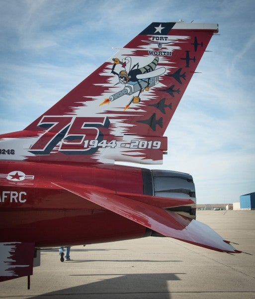 We salute this Texas F-16 squadron for marking their 75th anniversary with an epic paint job