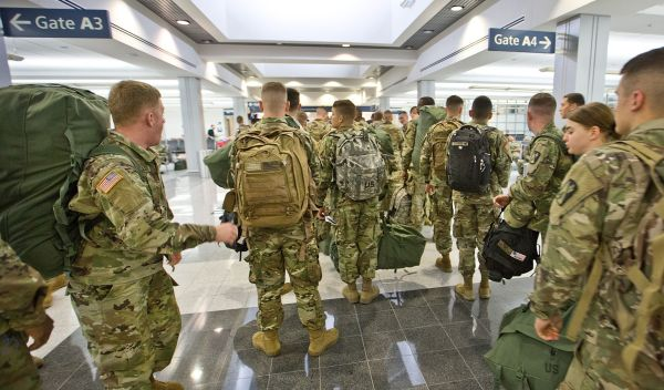 Officials at Virginia airport worry decrease in flights this year will hurt troops going home for the holidays