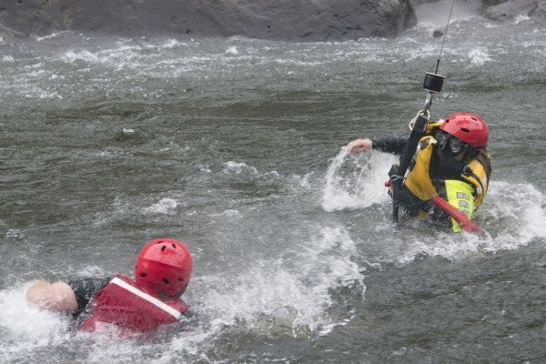 Watch West Virginia Guardsmen Train For Swift Water Rescues In This Intense Video