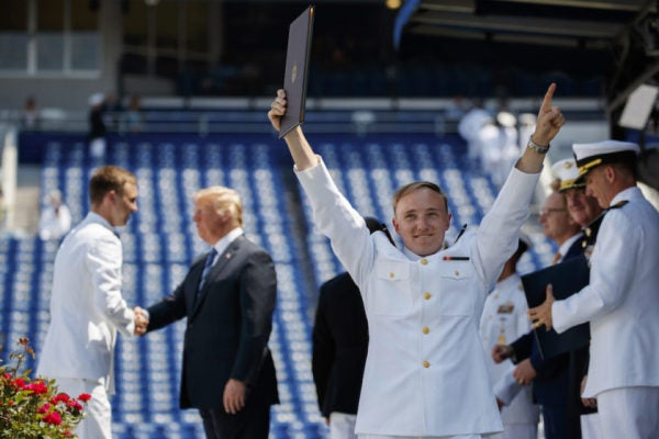 Trump At Naval Academy Graduation: 'We Are Not Going To Apologize For America'