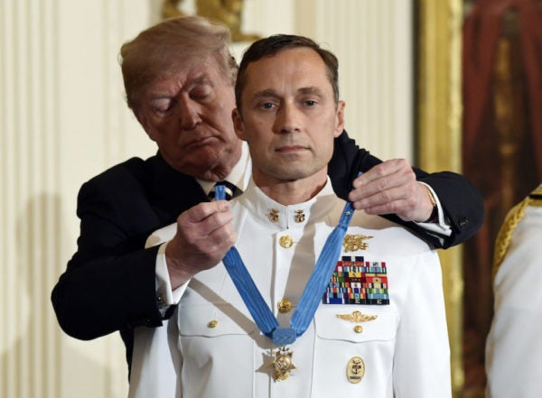 'Outmanned, Outgunned and Fighting': Navy SEAL Britt Slabinski Receives Medal of Honor