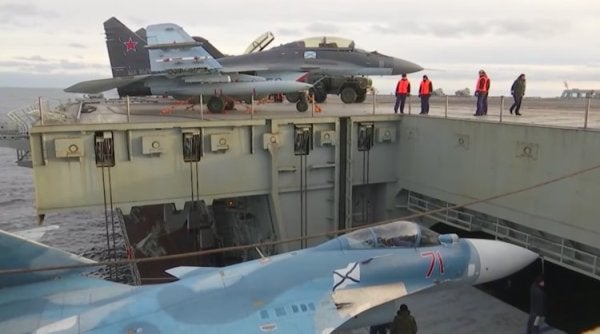 A Look At The Admiral Kuznetsov, Russia's Only Aircraft Carrier And Floating Garbage Pile