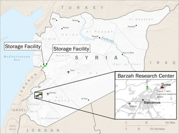 The Pentagon Says Strikes 'Crippled' Syria's Chemical Weapons Sites