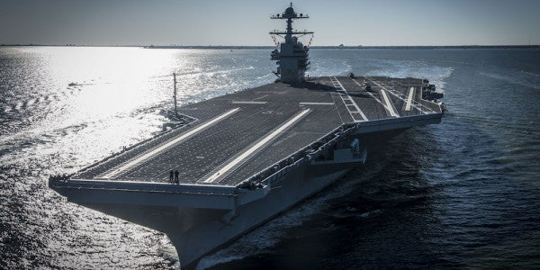 The Navy Just Took Delivery Of The World's Most Advanced Aircraft Carrier