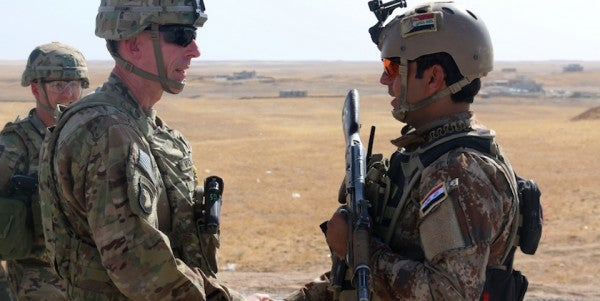 US Troops Move To The Frontlines In Battle For Mosul
