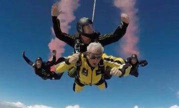 91-Year-Old Vet Shows Up Golden Knights By Strapping On A Parachute