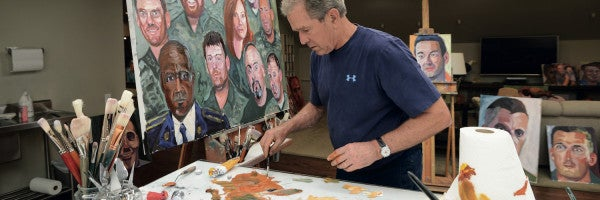 George W Bush Opens Up About Veterans, Iraq, And The Healing Power of Art