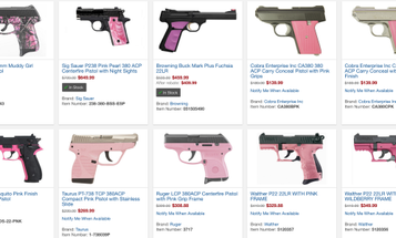Take A Stand For Women: Ban Pink Guns
