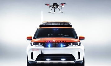 Land Rover Built A Drone-Enabled Rescue Vehicle To Help The Red Cross Save Lives