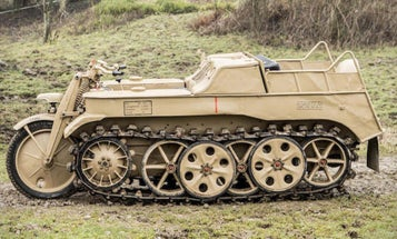 You Can Now Own This Ridiculous 1944 German Kettenkrad Armored Motorcycle Tank
