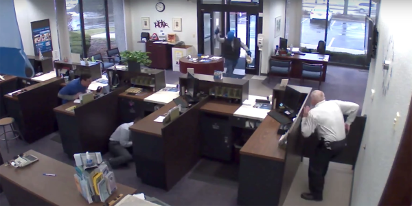 Watch This Good Guy With a Gun Drop An Armed Bank Robber From 2 Angles