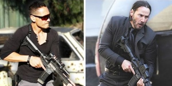 Watch 2 BuzzFeed Reporters Try To Shred A 3-Gun Course Like Keanu Reeves