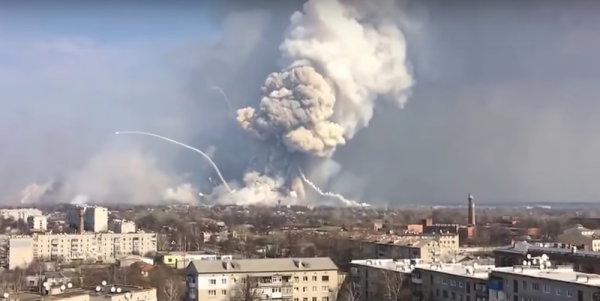 This Video Of A Weapons Dump Exploding In Ukraine Is Insane