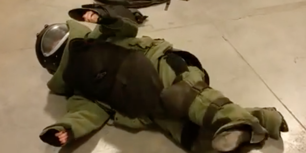 This Is What Happens When You Put A Civilian In A Bomb Suit